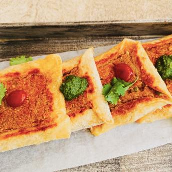 Open Lentil Sandwiches