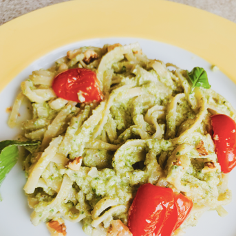 Creamy Basil Avocado Pasta