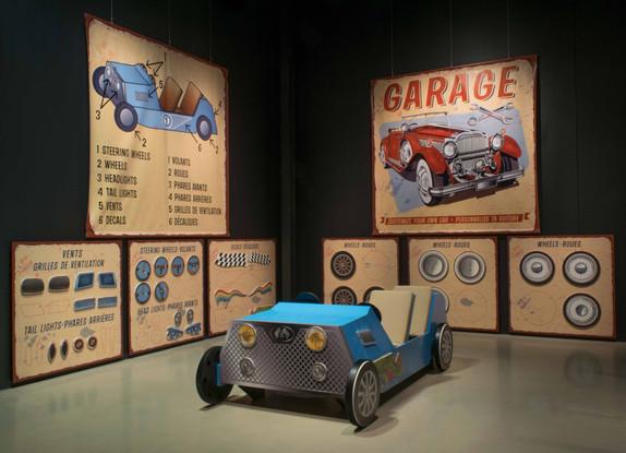 Un garage pour enfants