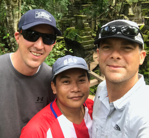 Vision Cambodia Co-Founders Troy Peterson, Rob Brunt, and Founder Chantha South.
