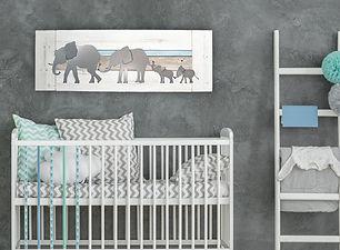 Parade of elephants twins or siblings de