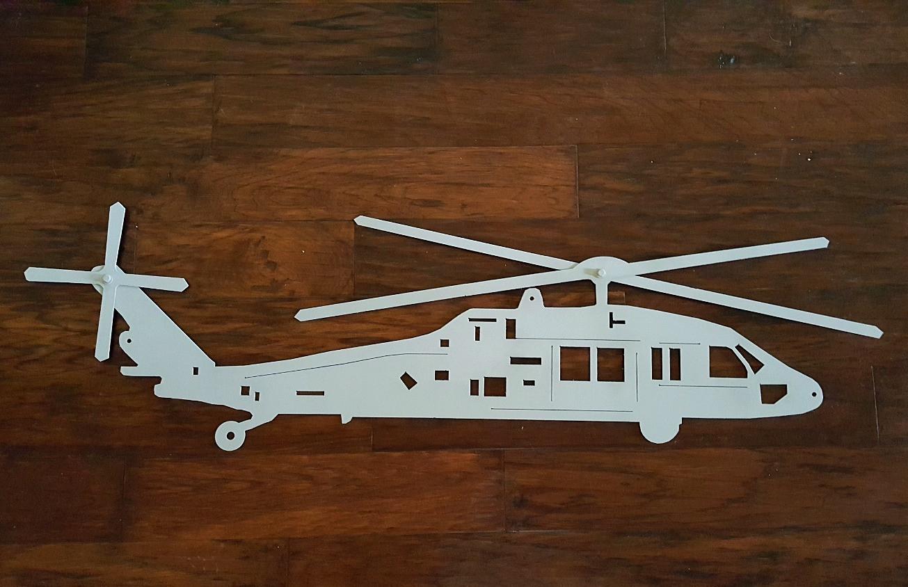 custom steel helicopter