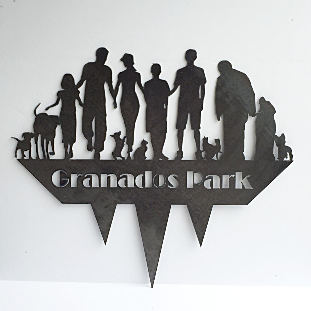 custom metal family yard sign