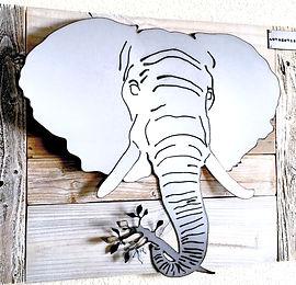 Elephant Metal Trophy Head