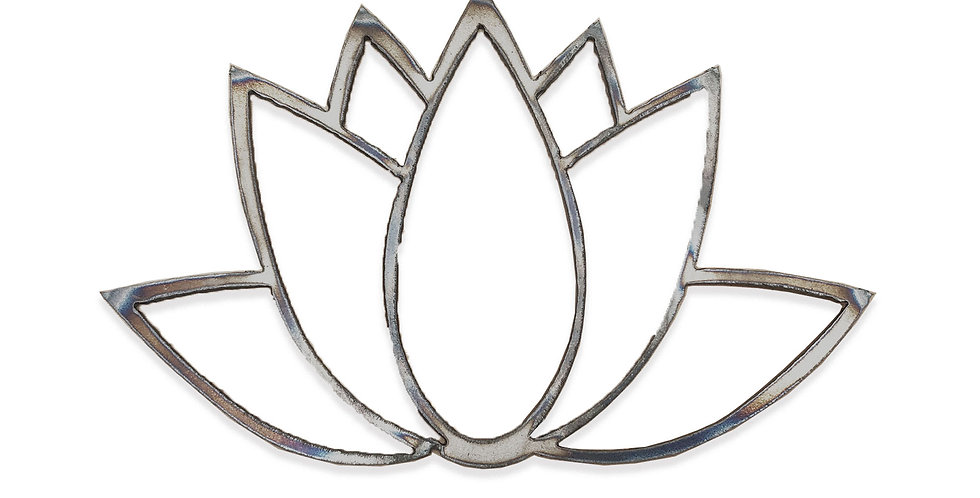 Pointy lotus metal shapes