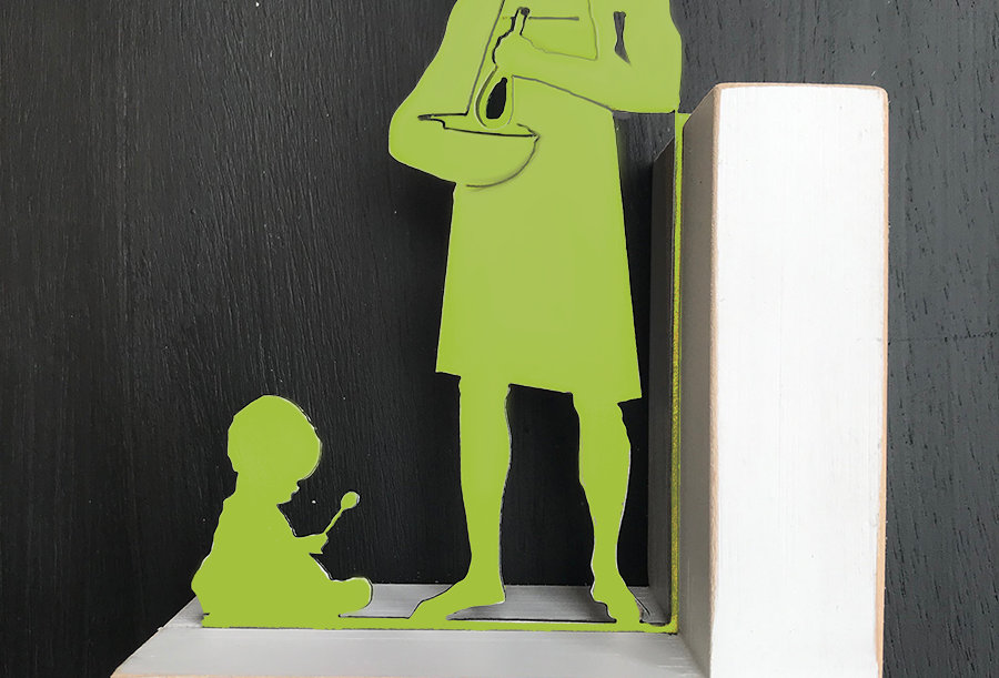Crepe Party Bookend- Left Side