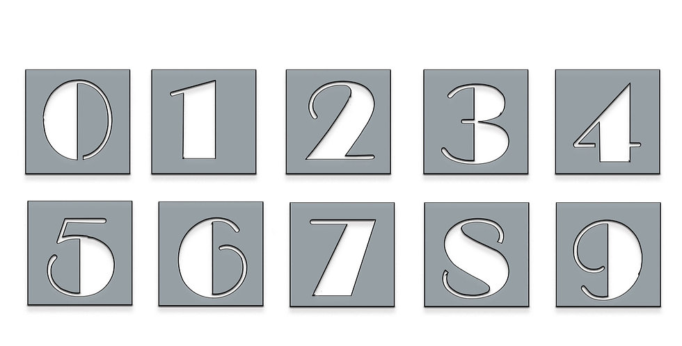 Broadway numbers metal shapes