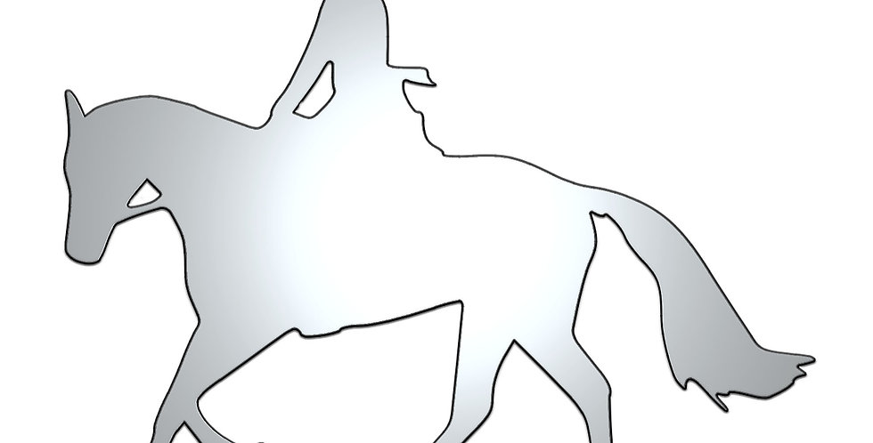 The horseback rider metal shapes