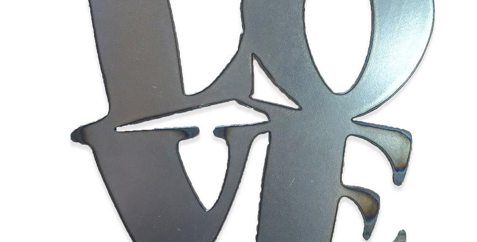 Love Block metal shapes