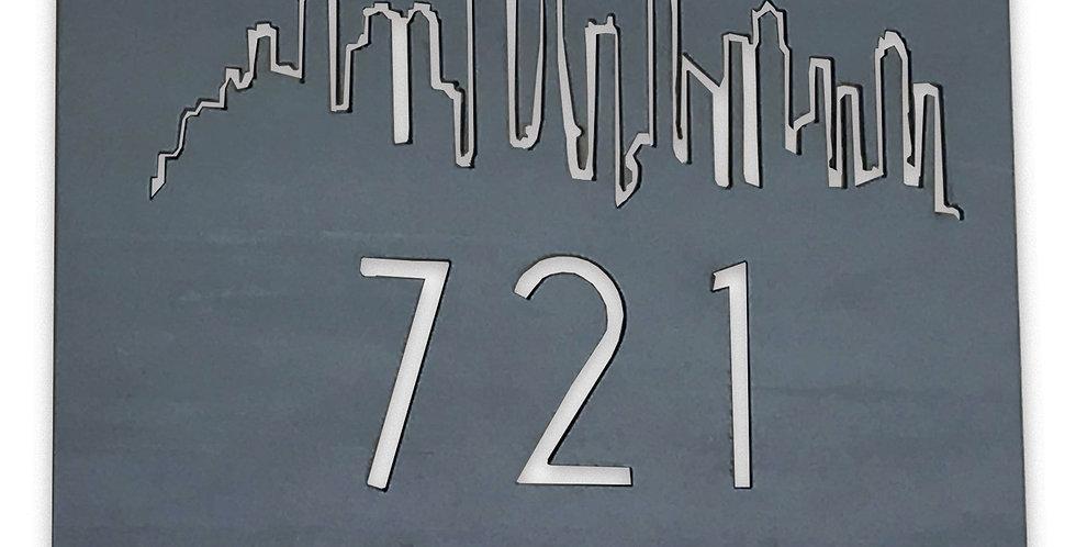 Address Sign Square- The Horizon