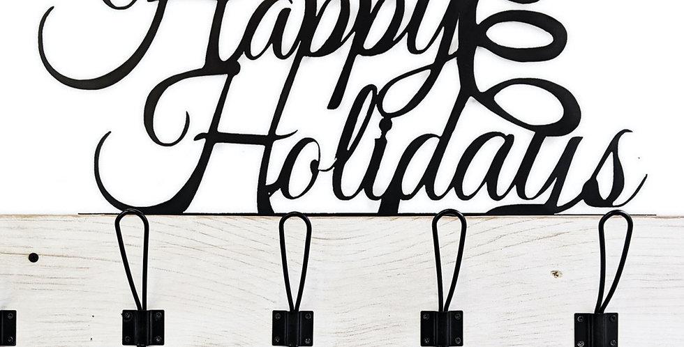 Happy Holidays Coat Rack - Holiday Decor