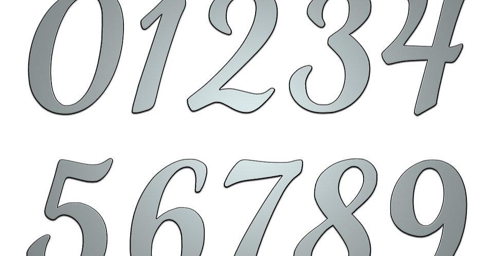 Bella Font numbers metal shapes