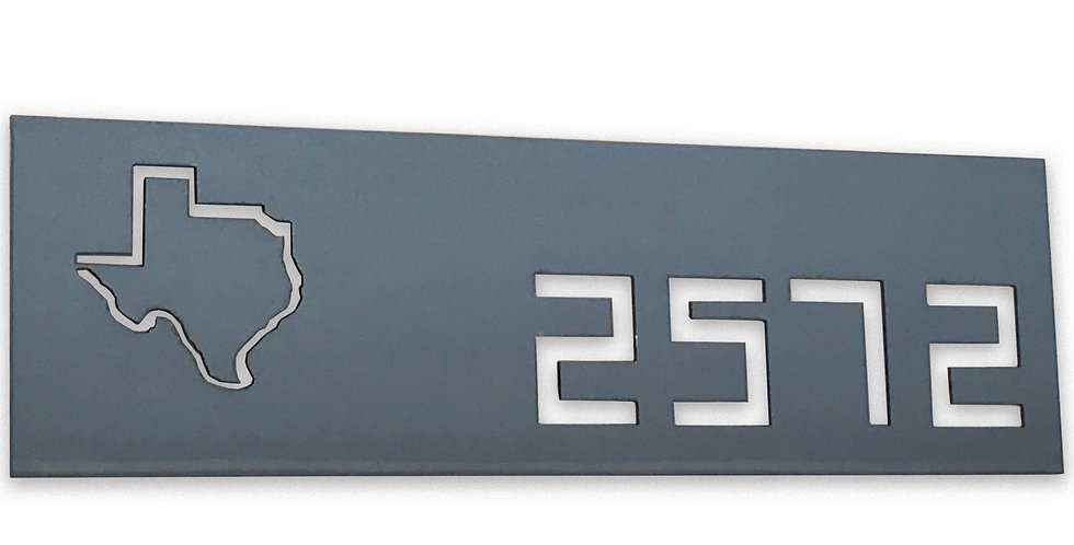 Modern rectangular Address Sign - The Geek