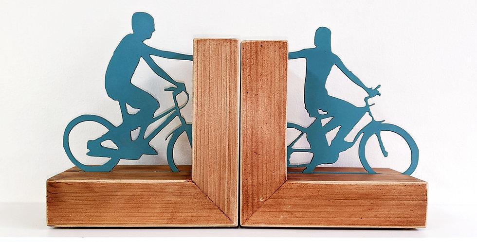 Biking Couple Bookends