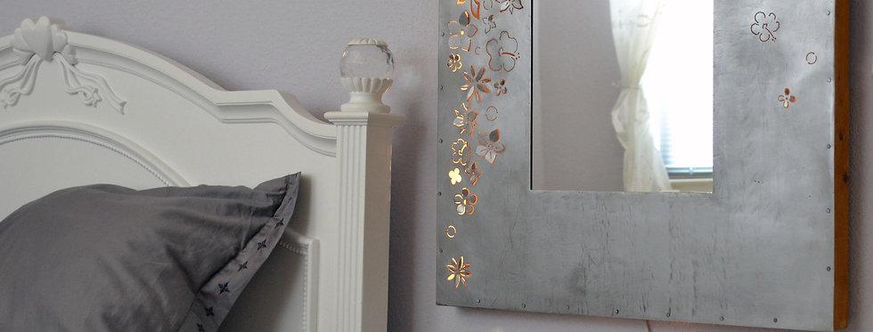 Backlit Flower Mirror