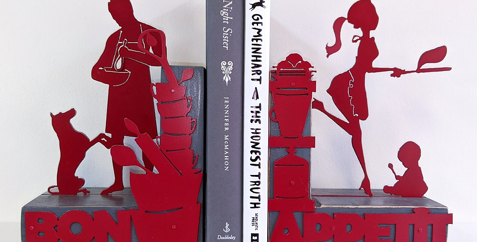Family Cooking Bookends