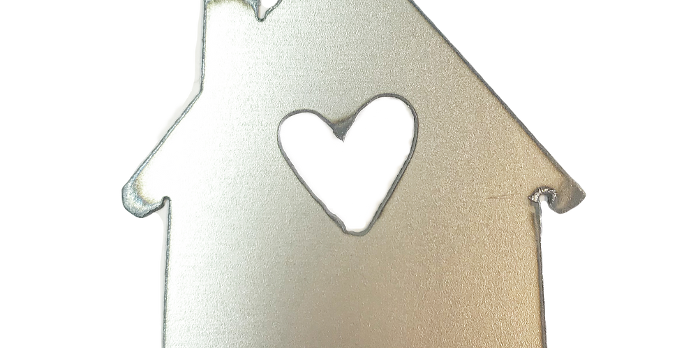 House with heart metal shapes