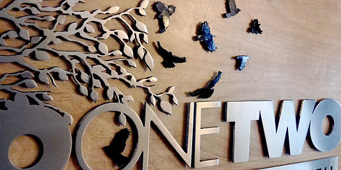 Custom Sign Metal and Wood Two one Two