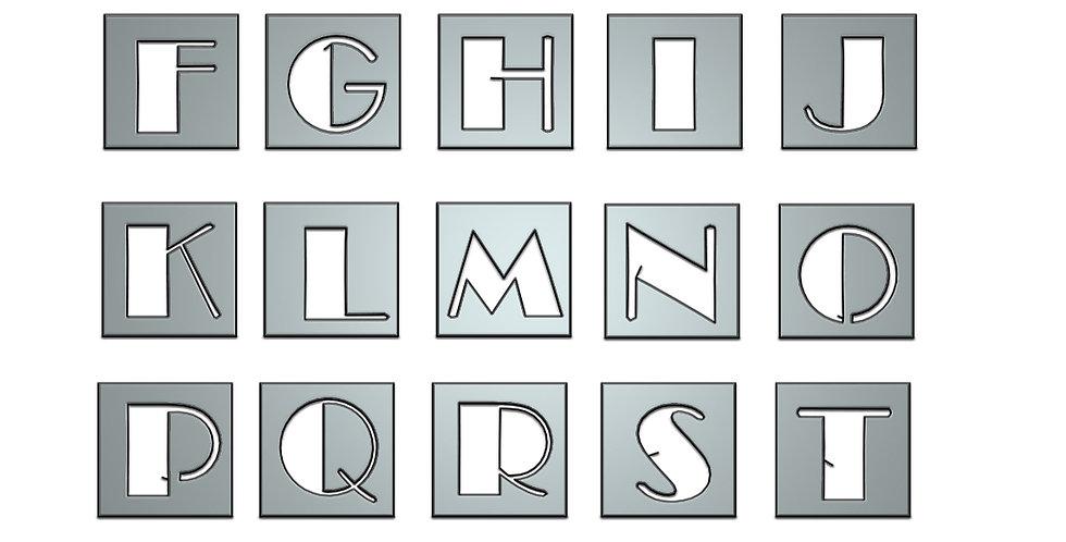 Broadway Alphabet letters metal shapes