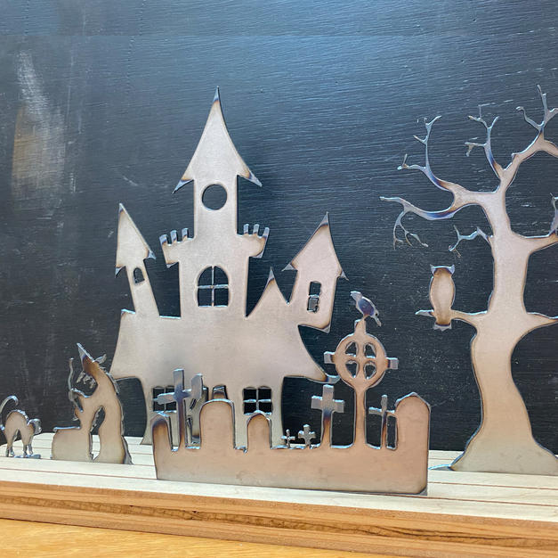 Halloween Shelf decor to be painted