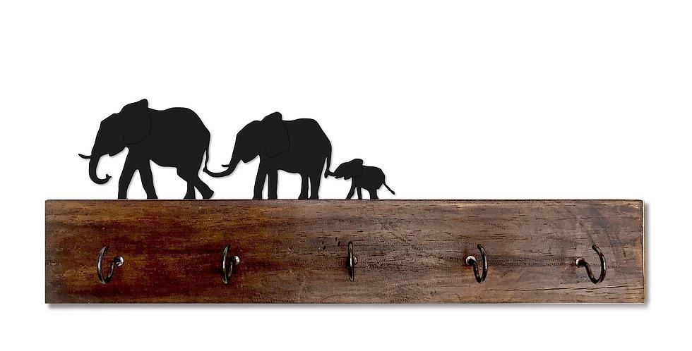 Parade of Elephants Key Holder