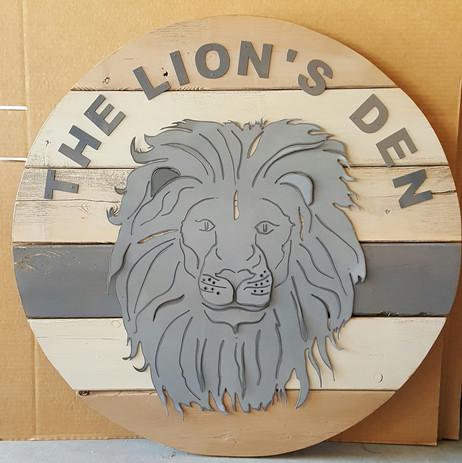 The Lion's Den Custom Art work for Playr