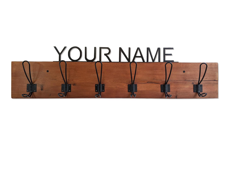 Your name Coat Rack walnut wood.jpg