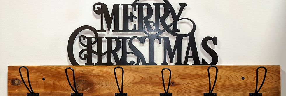 Merry Christmas Coat Rack - Holiday Decor