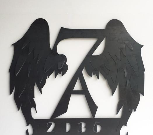custom metal wing sign