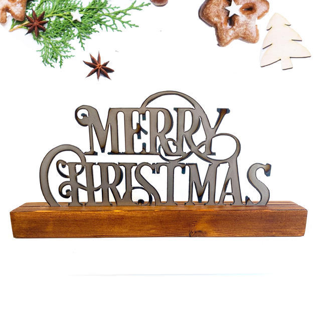 Merry Christmas shelf decor