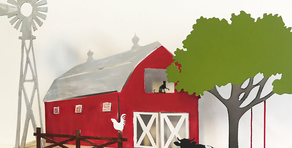 DIY Farm Scene Kit - Metal & Wood