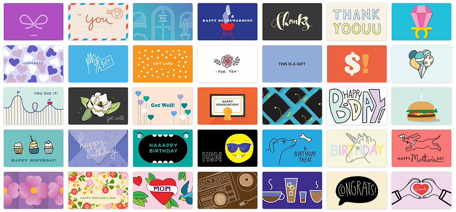 Gift Card Options Preview