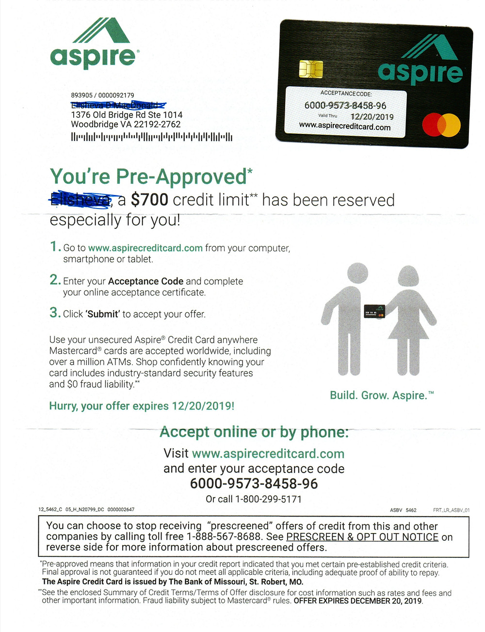 After bankruptcy credit card approval