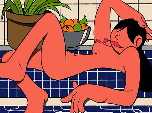 Recling Nude Giclée Fine Art Print