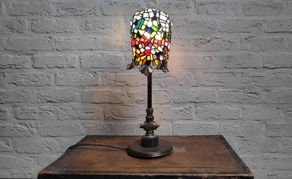 Rainbow lampe vitrail couleur artisanat