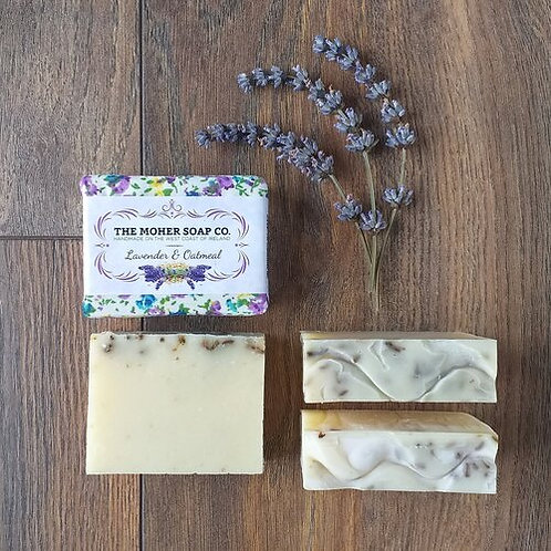 The Moher Soap Co Natural Soap Bar-Lavender & Oatmeal