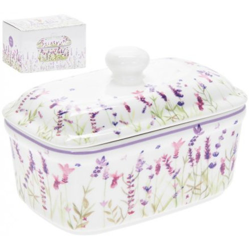 Purple Lavender Butter Dish
