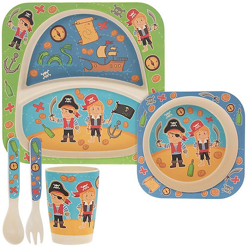 Pirate Eco-Friendly Bamboo Feeding Set