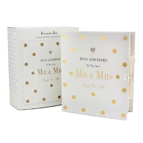 Mad Dots Wedding Keepsake Box