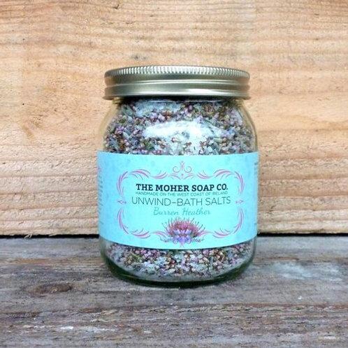 The Moher Soap Co Unwind Bath Salts - Burren Heathers