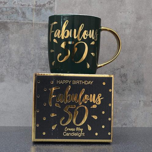 Candlelight Birthday Mug