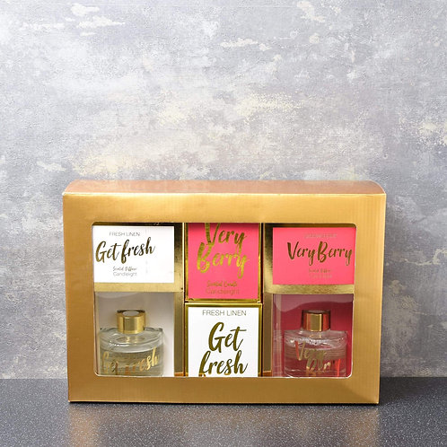 Candlelight 4pc Diffuser & Candle Gift Set