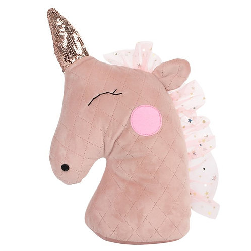 Blush Unicorn Doorstop
