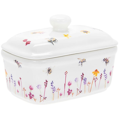 Busy Bee Ceramic Butter Dish