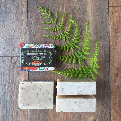 The Moher Soap Co Natural Body Scrub-Poppy