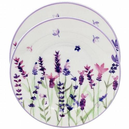 Purple Lavender Set of 2 Plates
