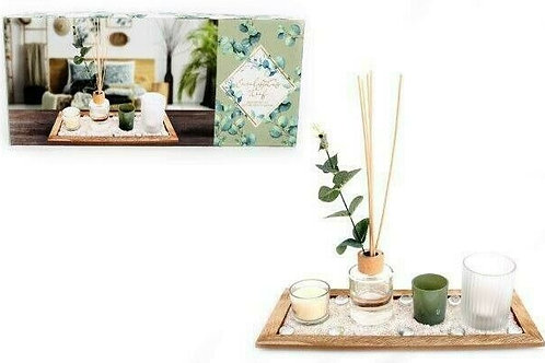 Eucalyptus Diffuser & Candle Gift Set