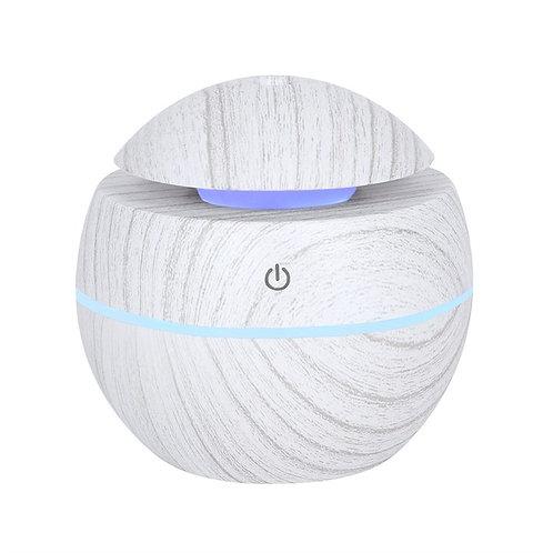 Small Round White Grey Grain Aroma Diffuser