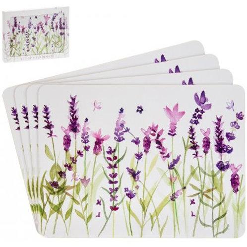 Purple Lavender Set of 4 Placemats