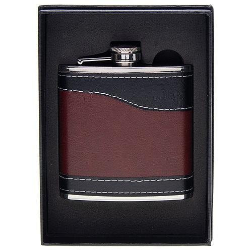 6oz Faux Leather Hip Flask